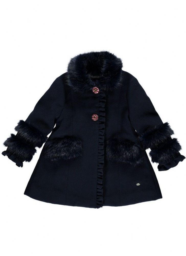 Piccola Speranza Girls Navy Coat
